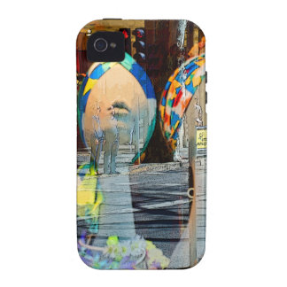 Hats and Scarves Art Deco Vibe iPhone 4 Cases
