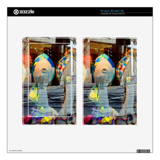 Hats and Scarves Art Deco Skin For Kindle Fire