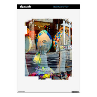 Hats and Scarves Art Deco iPad 2 Skin