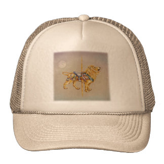 Hats, Caps - Carousel Lion SQ Trucker Hat