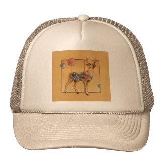 Hats, Caps - Carousel Reindeer or Elk Trucker Hat