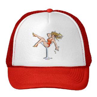 Hats, Caps - Girl in a Martini Glass, Olivia Trucker Hat