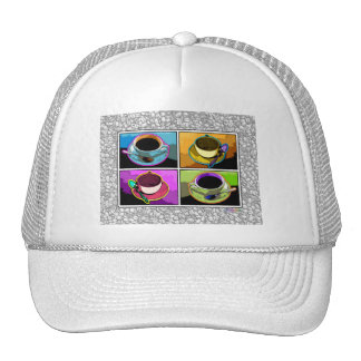 Hats, Caps - Java Addictions Pop Art