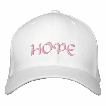 Hats Custom Hope Embroidered Cap by creativeconceptss at Zazzle