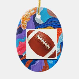 Hats Football Ceramic Ornament