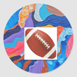 Hats Football Classic Round Sticker