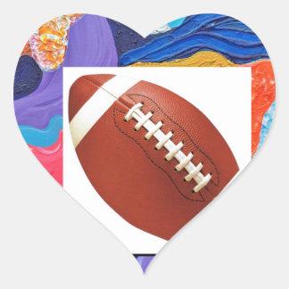 Hats Football Heart Sticker