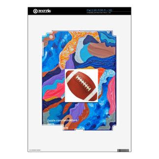 Hats Football iPad 2 Decal