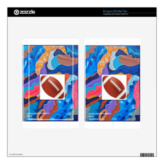 Hats Football Kindle Fire Decals