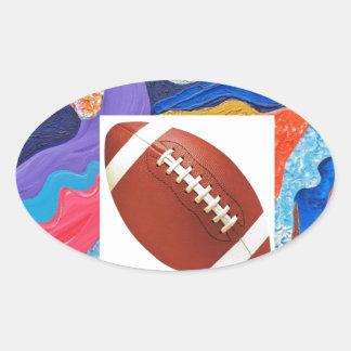 Hats Football Oval Sticker