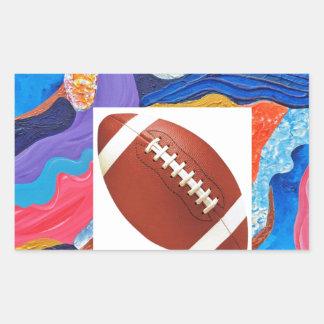 Hats Football Rectangular Sticker