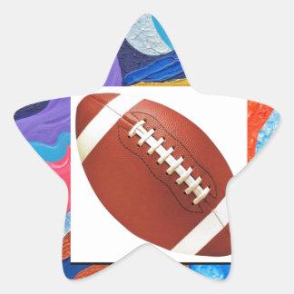 Hats Football Star Sticker