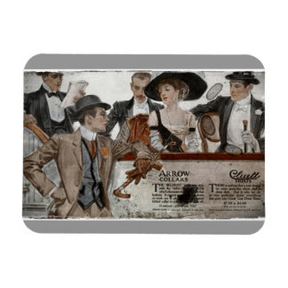 Hats for Him and Her Turn-of-Century Rectangular Photo Magnet