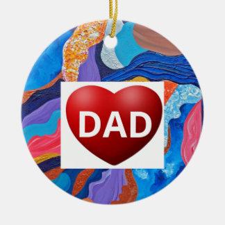 Hats Love Dad Ceramic Ornament