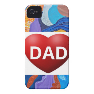 Hats Love Dad iPhone 4 Cover