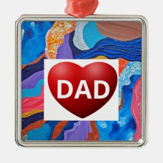 Hats Love Dad Metal Ornament