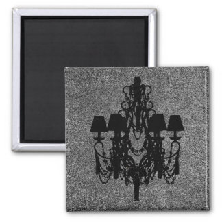 Hats n' Chandelier ~ 2 Inch Square Magnet