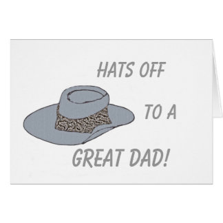 Hats Off-Gray Hat Card