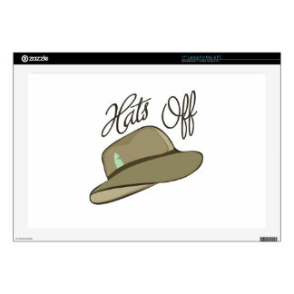 Hats Off Laptop Decal
