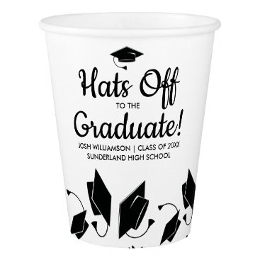 Professional Business Hats off to the Graduate Photo Graduation Party Paper Cup