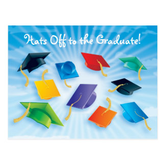 Hats Off to the Graduate! Postcard
