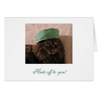 Hats off to you - Congratulations! Cards
