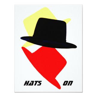 HATS ON OFF PARTY Invite Invitations EZ2 Customize