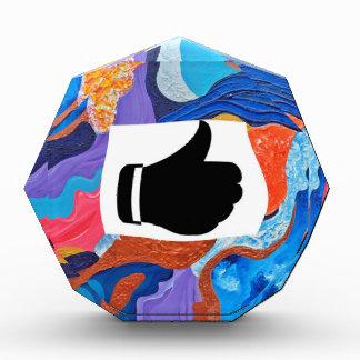 Hats Thumbs Up Acrylic Award