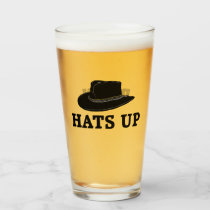 Hats Up Brew Glass