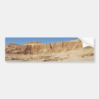 Hatshepsut Temple panoramic photograph Bumper Sticker