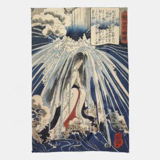 Hatsuhana que hace Penance de Utagawa Kuniyoshi Toalla