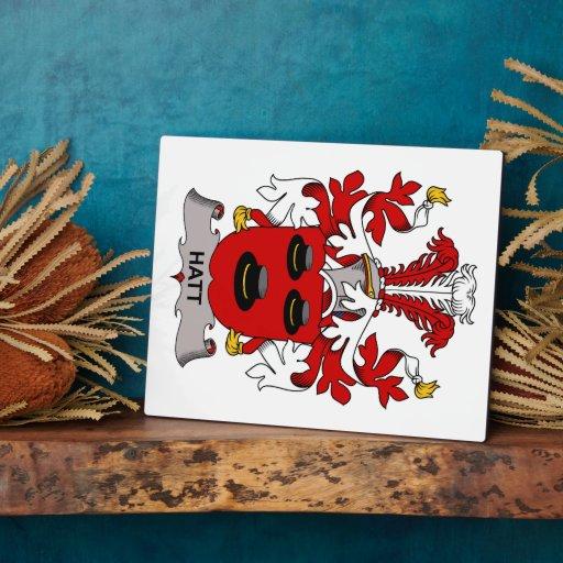 Hatt Family Crest Photo Plaques