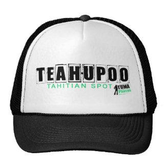 hatteahupoo green trucker hat