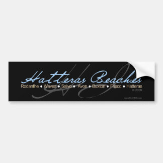 Hatteras Beaches (Drk) Bumper Sticker