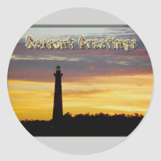 Hatteras Lighthouse Season's Greetings Stickers