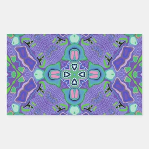 Hattie Design Rectangle Sticker