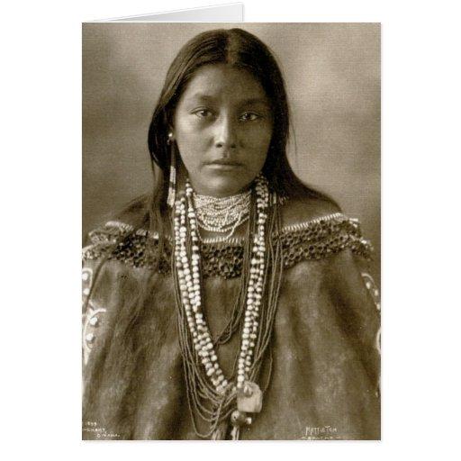 Hattie Tom, Chiricahua apache Tarjeta De Felicitación
