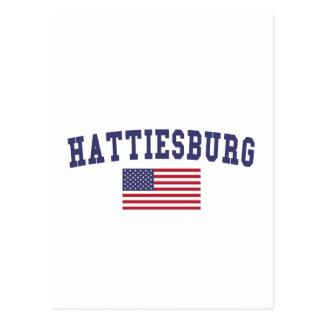 Hattiesburg US Flag Postcard