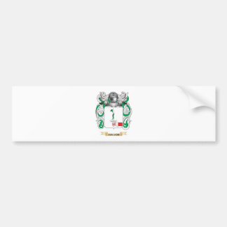 Hauch Coat of Arms (Family Crest) Car Bumper Sticker