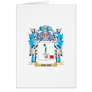 Hauch Coat of Arms - Family Crest Greeting Card