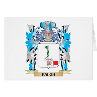 Hauch Coat of Arms - Family Crest Stationery Note Card