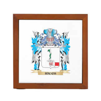 Hauch Coat of Arms - Family Crest Desk Organizers
