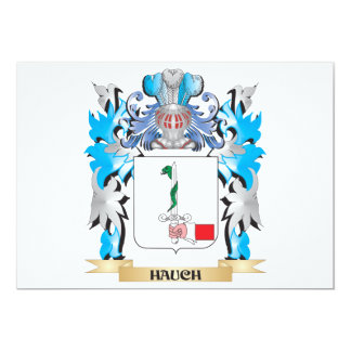 Hauch Coat of Arms - Family Crest 5x7 Paper Invitation Card