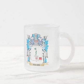 Hauch Coat of Arms - Family Crest 10 Oz Frosted Glass Coffee Mug