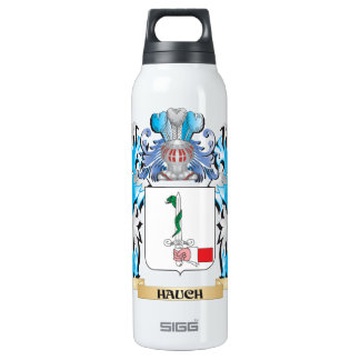 Hauch Coat of Arms - Family Crest 16 Oz Insulated SIGG Thermos Water Bottle