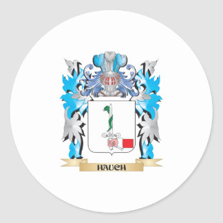Hauch Coat of Arms - Family Crest Classic Round Sticker