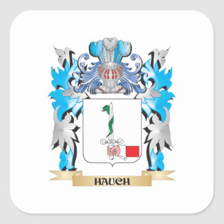 Hauch Coat of Arms - Family Crest Square Sticker