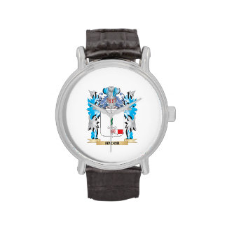 Hauch Coat of Arms - Family Crest Wrist Watches