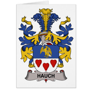 Hauch Family Crest Greeting Card
