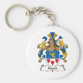 Hauch Family Crest Basic Round Button Keychain